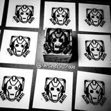 CYBERMAN - Hand-Carved Block Printing Stamp