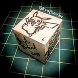 PIKACHU - Hand-Carved Block Printing Stamp