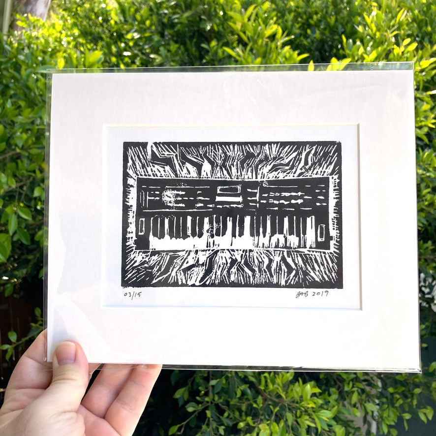 MY CASIO CZ1000- An Original Limited Edition Linocut (Series of 15)