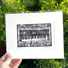 Load image into Gallery viewer, MY CASIO CZ1000- An Original Limited Edition Linocut (Series of 15)