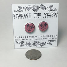 Load image into Gallery viewer, Dead Face Studs (Handmade Earrings)