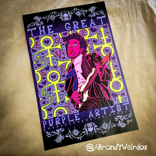 The Great Purple Artist (Open Edition Poster Print)