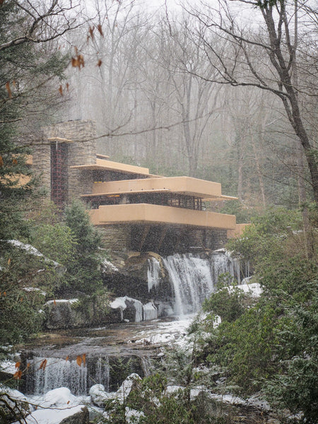 Falling Water in the Snow