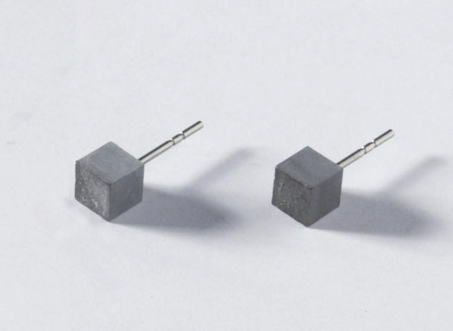 Concrete Earrings - cube