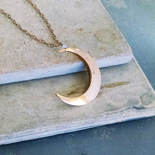 Golden Crescent Necklace