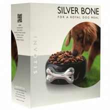Silver Bone Dog Bowl
