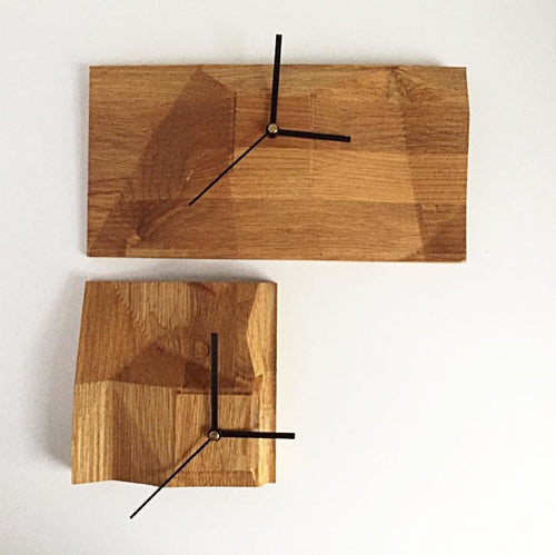 Butcher Block Clock