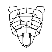 Polar Bear Geometric Animal Head