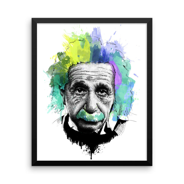 Albert Einstein — Framed poster