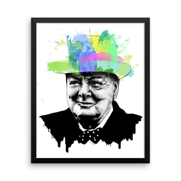 Winston Churchil — Framed poster