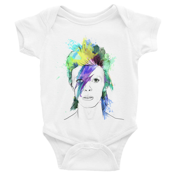 David Bowie - Infant short sleeve one-piece