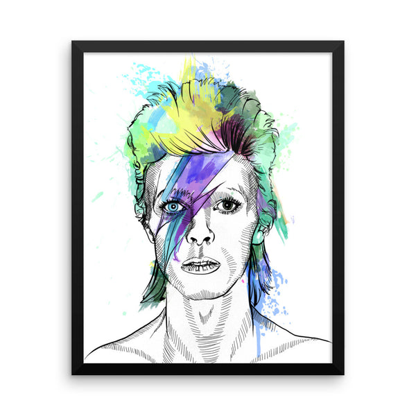 David Bowie — Framed poster