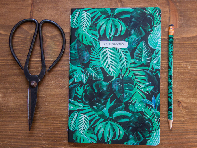 Botanical Jungle Leaves A5 Notebook