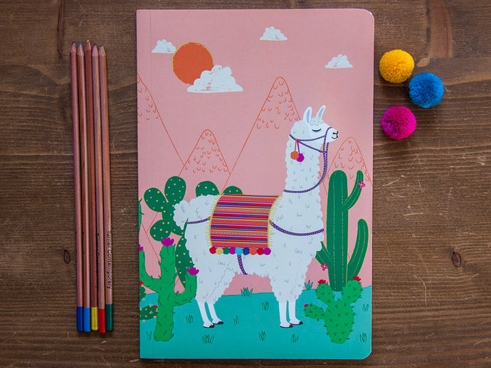 Lovely Llama A5 Notebook