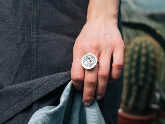Isadora Silver Disc Ring