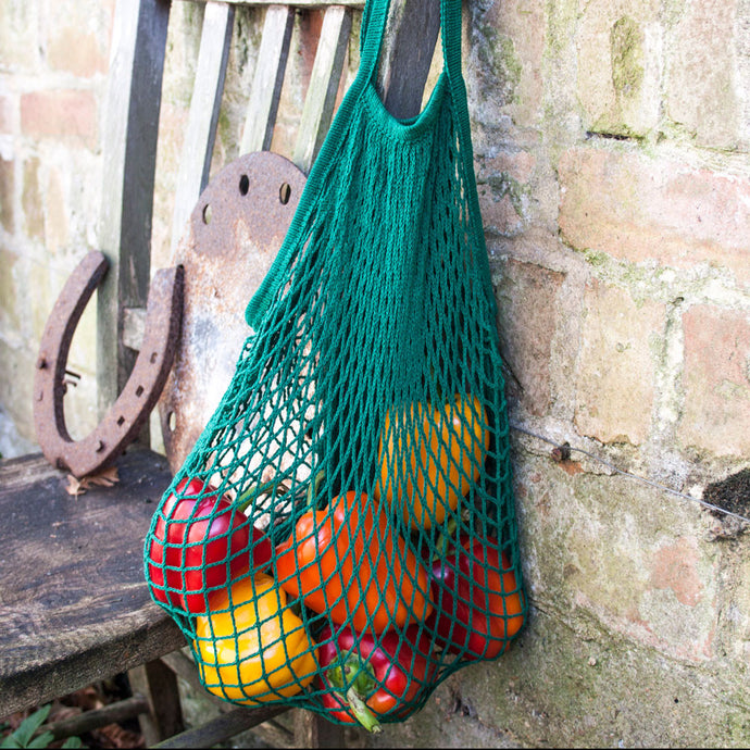 Green French Cotton Net Bag