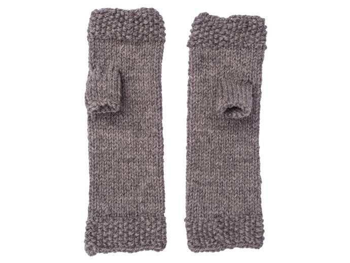 Fingerless Gloves in Dove Grey