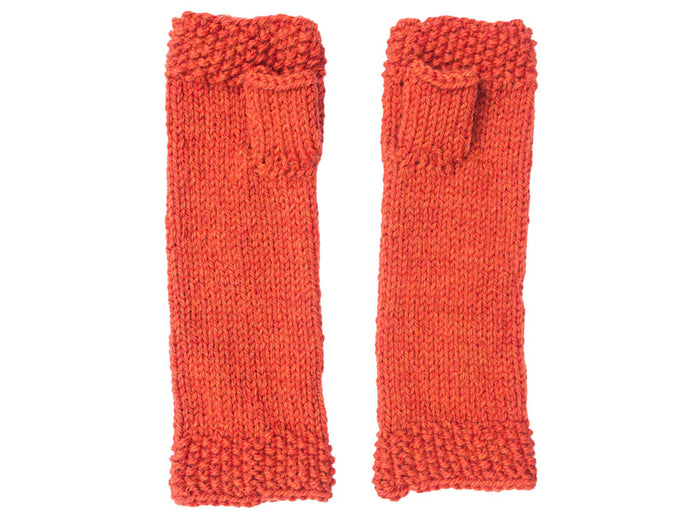 Fingerless Gloves in Orange