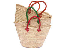 Lisboa Small Shopping Basket with Green Handles