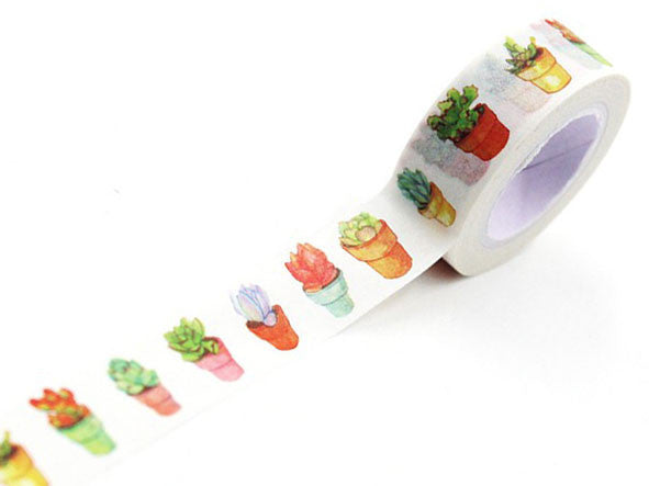 Watercolour Plant Pots Washi Tape