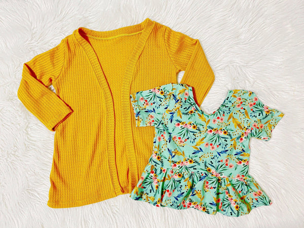 mustard-cardigan-waffle-knit-handmade-tops-for-kids