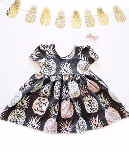 Pineapple Ballerina scoop dress.