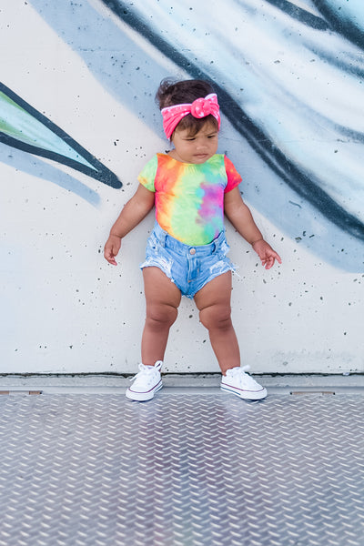 Snow Cone Summer Tie Dye Leotard