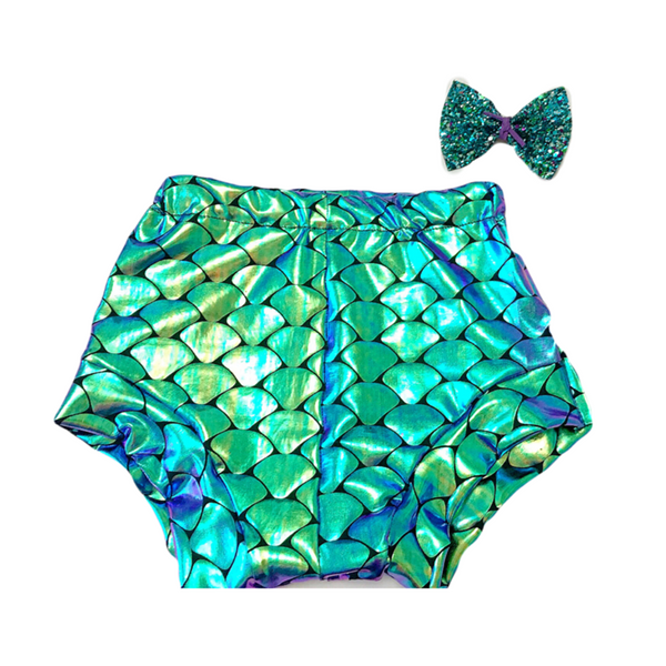 Purple Iridescent Mermaid Bummies