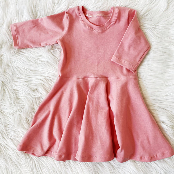 Dusty Pink Twirl Dress
