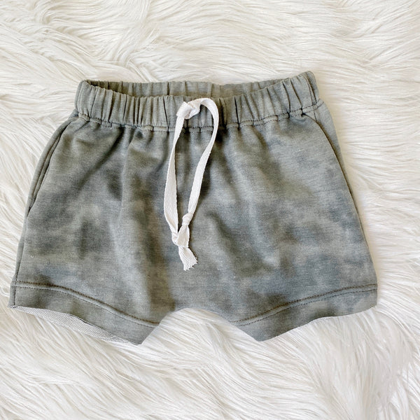 gray drawstring shorts for boys handmade clothes pure threads co