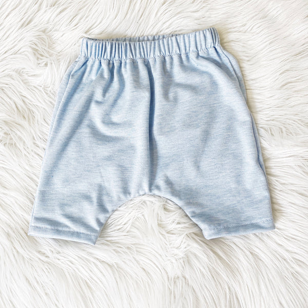 Heather Baby Blue Harem Shorts