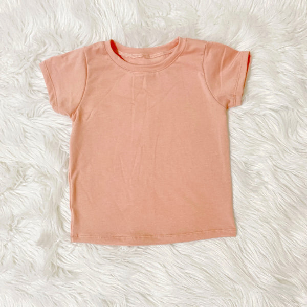 flat lay unique girls tees handmade pink bamboo shirt for girls pure threads co