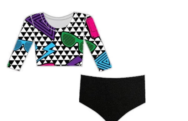 Retro 2-Piece Bikini Suit
