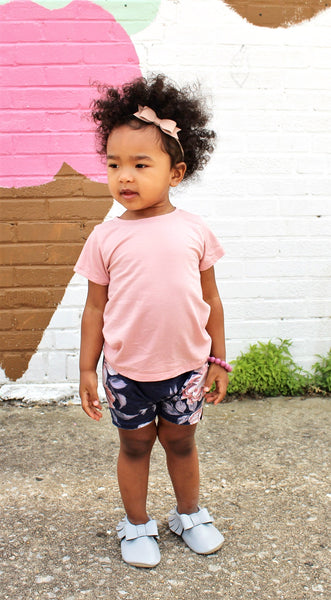 unique girls tees handmade pink bamboo shirt for girls pure threads co