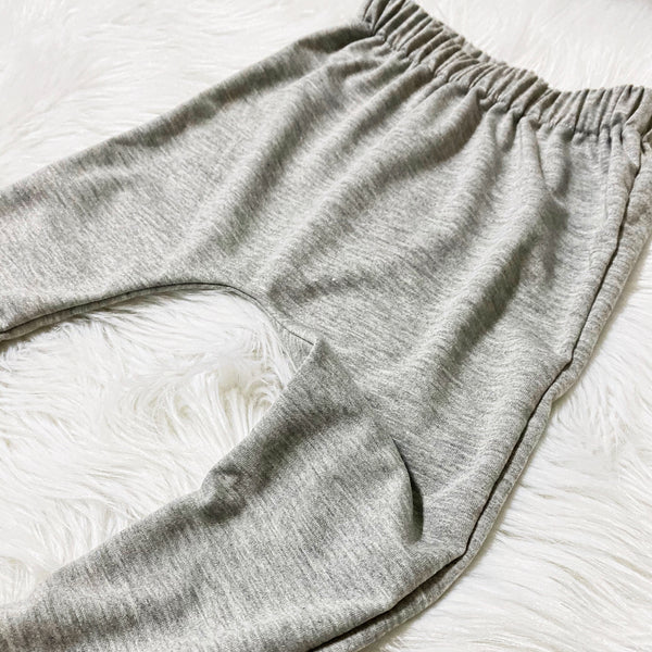 Kids Harem Pants - Heather Gray