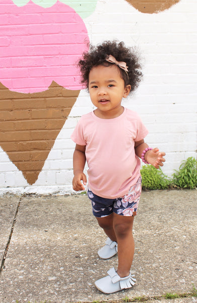 pink basic tee bamboo tshirts for toddlers