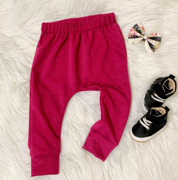magenta-leggings-handmade-pants-for-kids-pure-threads-co