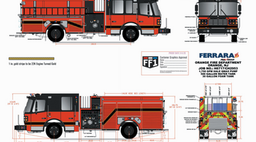 Orange Fire Department - Custom Pumper