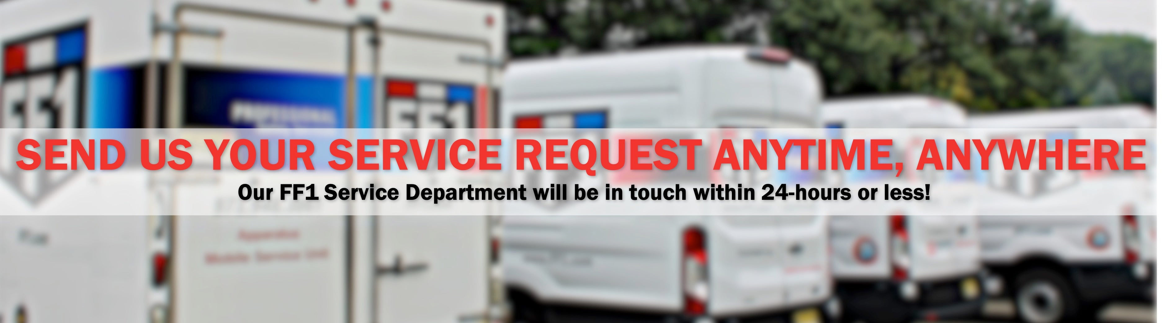 Send us your service request anytime, anywhere.