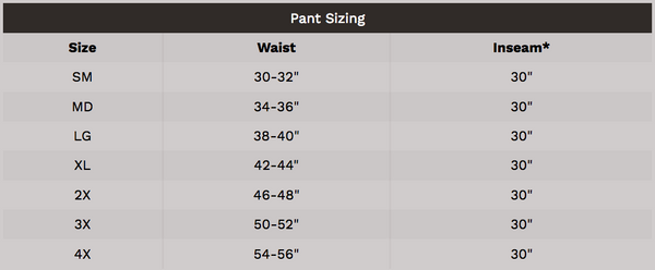 Fire Dex USAR Pant Sizing
