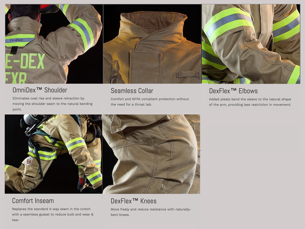 Fire Dex FXR Turnout Gear Features