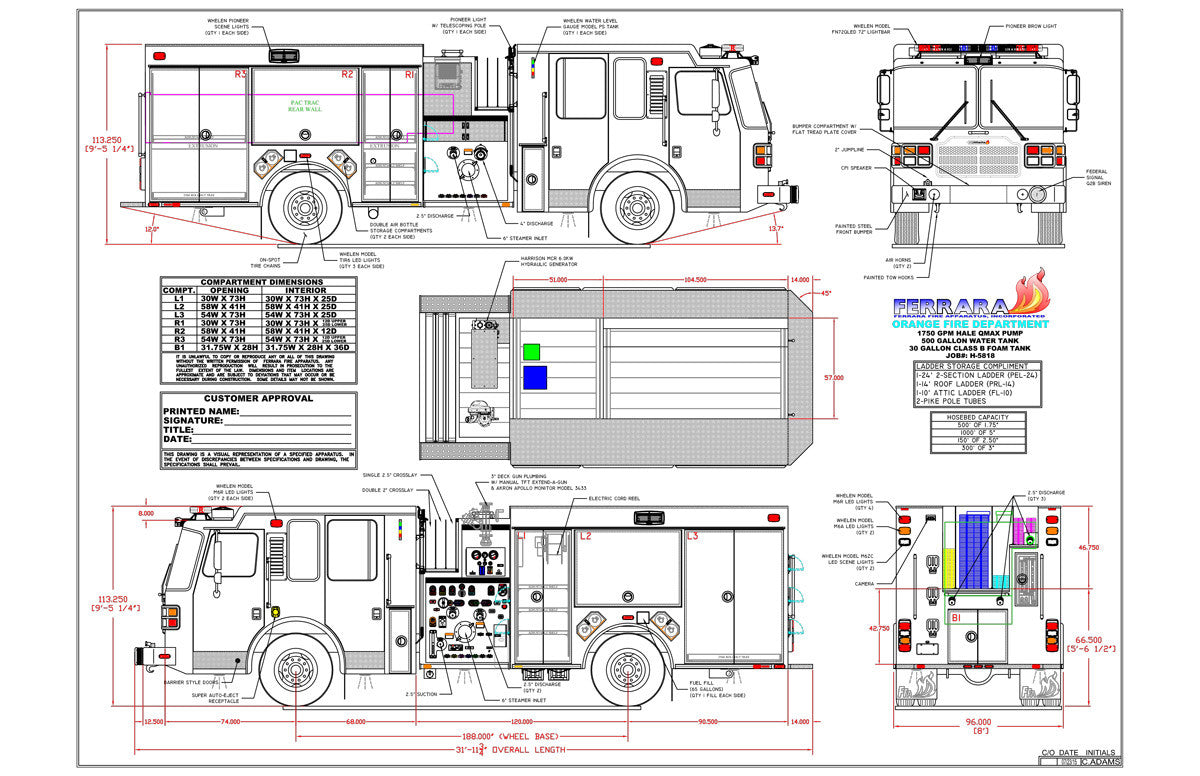 fire truck dimensions diagram best wiring libraryfire truck dimensions diagram