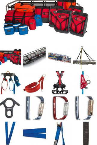 Rope Rescue Team Kit with 4 Response Harnesses