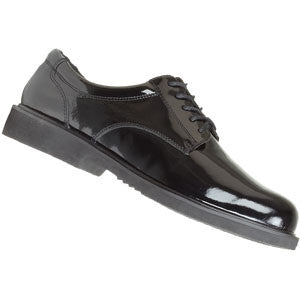 Black Easy-To-Care-For High Gloss Poromeric Oxford