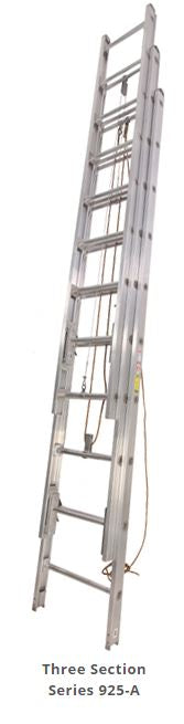 Series 925-A 3-Section Solid Beam Aluminum Ladders