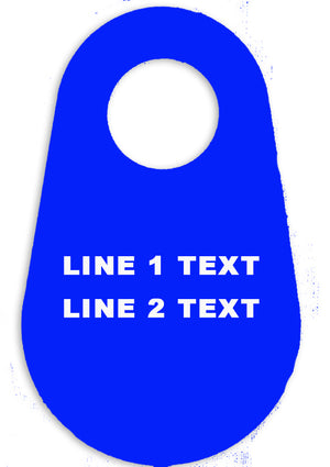 Custom Accountability Tag - 2 Lines of Text