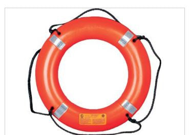 "30"" Ring Buoy with Reflective Tape and Bridge"