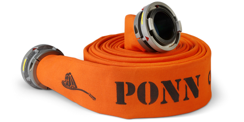 "Ponn: Conquest Double Jacket Hose / 5"" Diameter, Coated / 5"" Coupled"