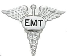 EMT Caduceus Open Collar Pin - Pair