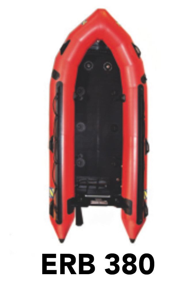 Zodiac ERB380 (Red) Boat Package: Includes Boat, High Pressure Floor, SCBA Adapter & Accessories
